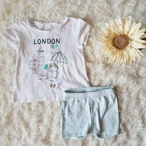 Gap Girls 3T Shirt and Short Set